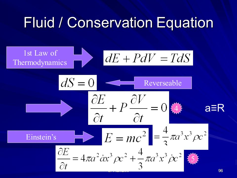 Fluid / Conservation Equation