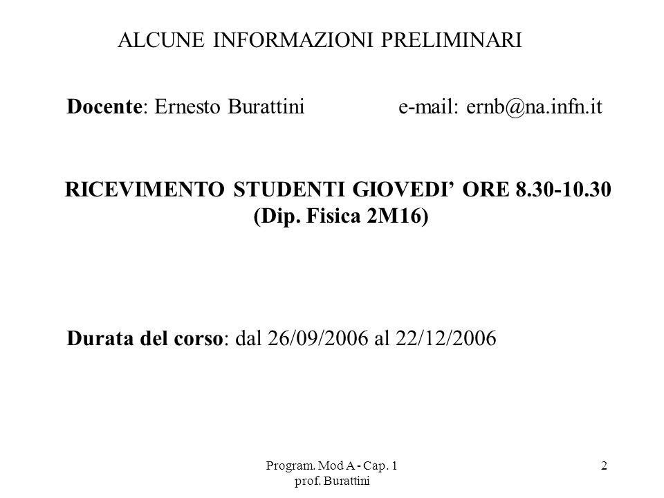 RICEVIMENTO STUDENTI GIOVEDI' ORE 8.30-10.30