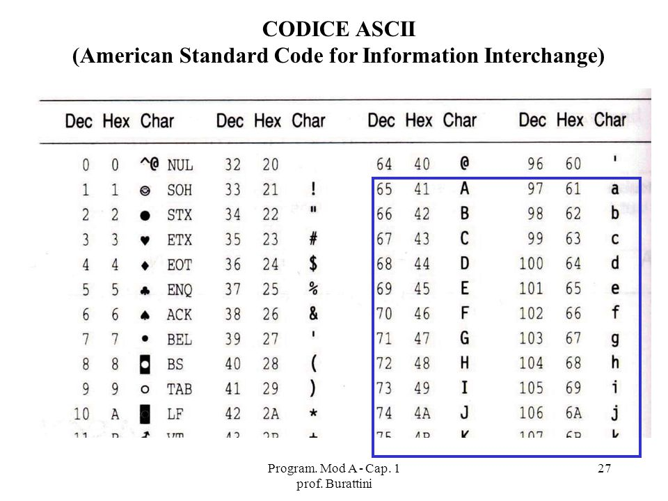 (American Standard Code for Information Interchange)