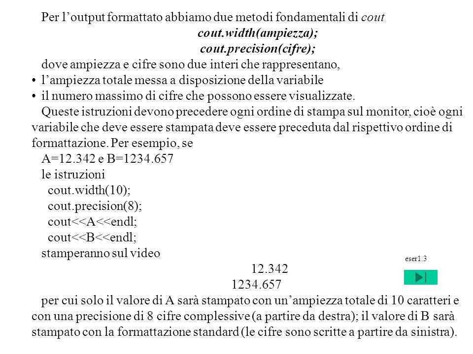 cout.precision(cifre);