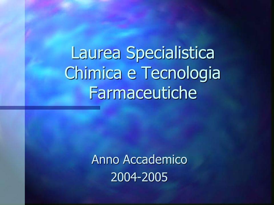Laurea Specialistica Chimica e Tecnologia Farmaceutiche
