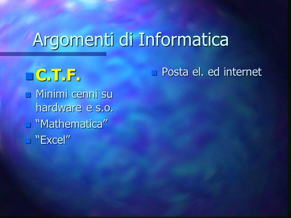 Argomenti di Informatica