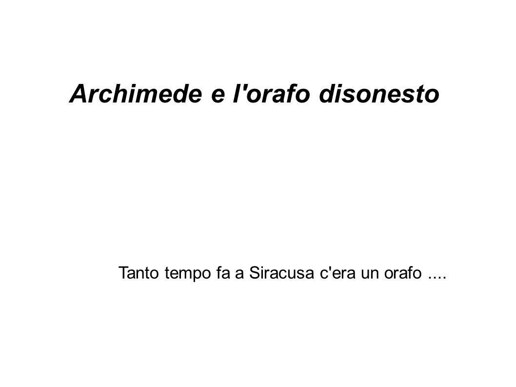 Archimede e l orafo disonesto