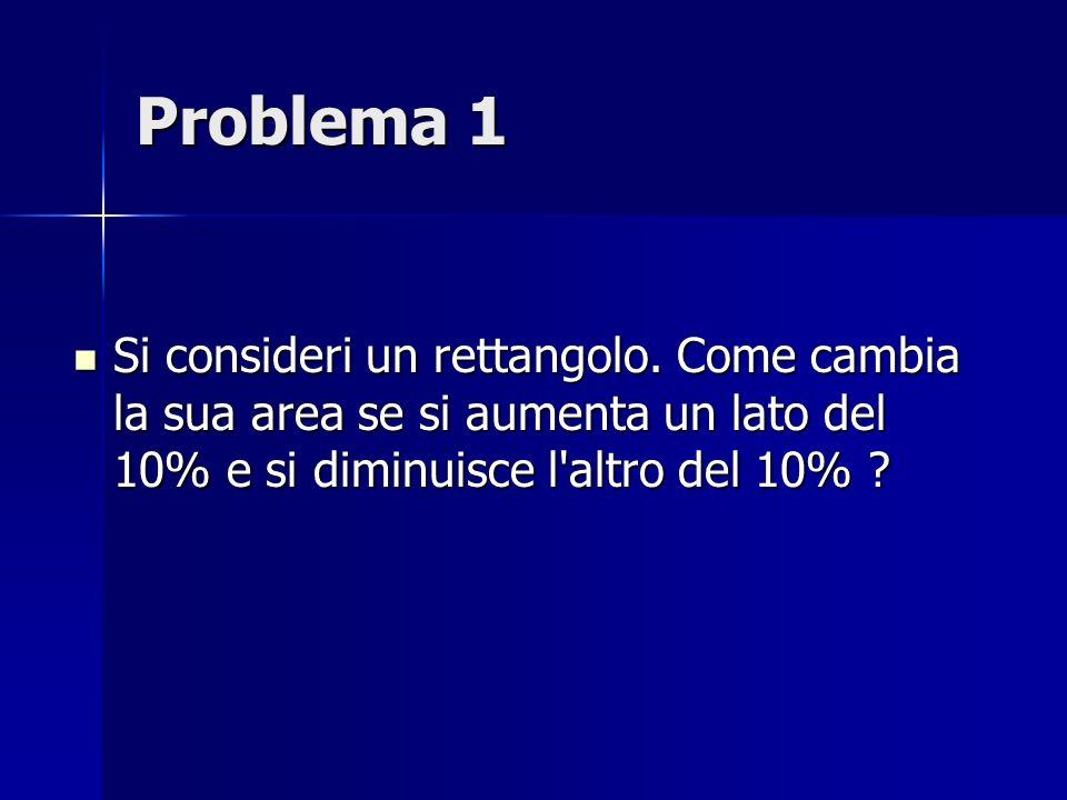 Problema 1 Si consideri un rettangolo.