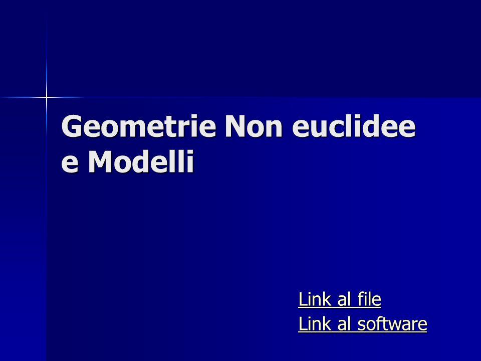 Geometrie Non euclidee e Modelli