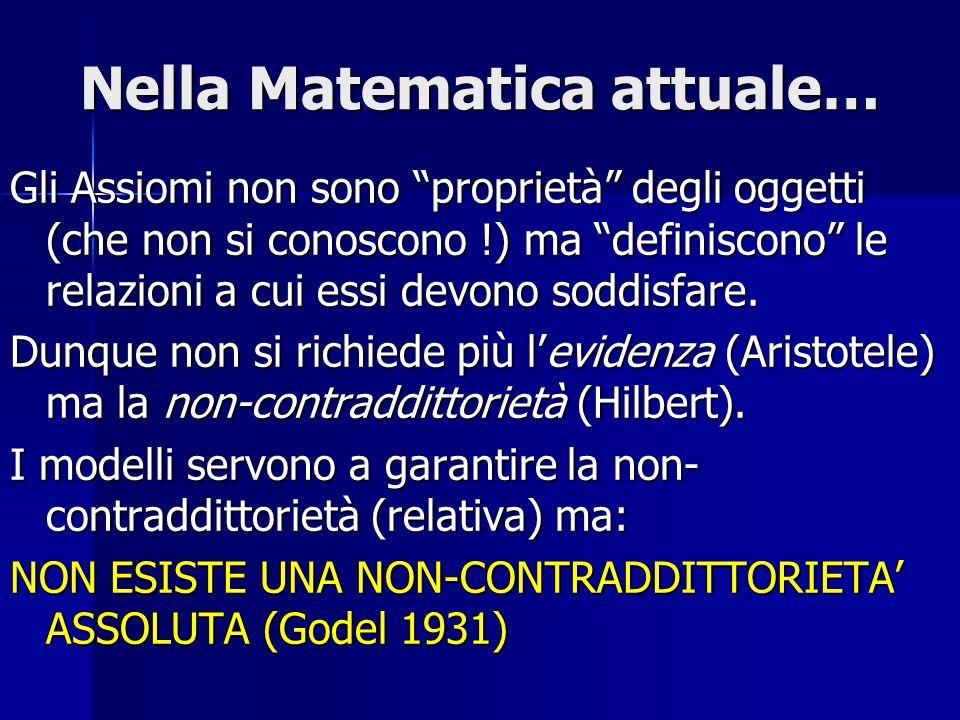Nella Matematica attuale…