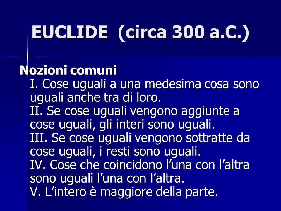 EUCLIDE (circa 300 a.C.)