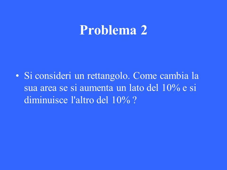 Problema 2 Si consideri un rettangolo.
