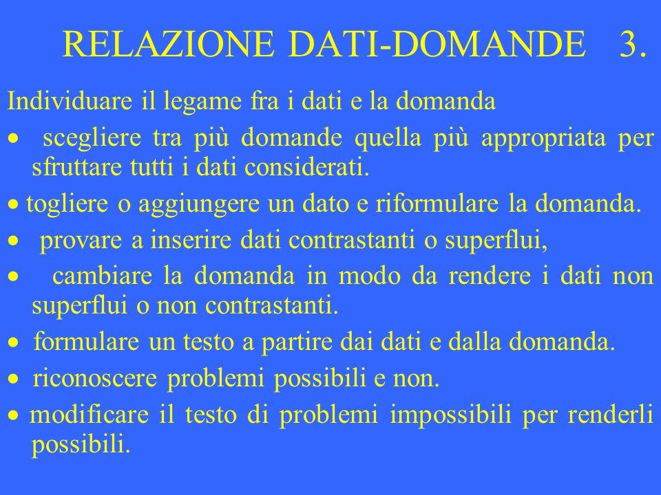 RELAZIONE DATI-DOMANDE 3.