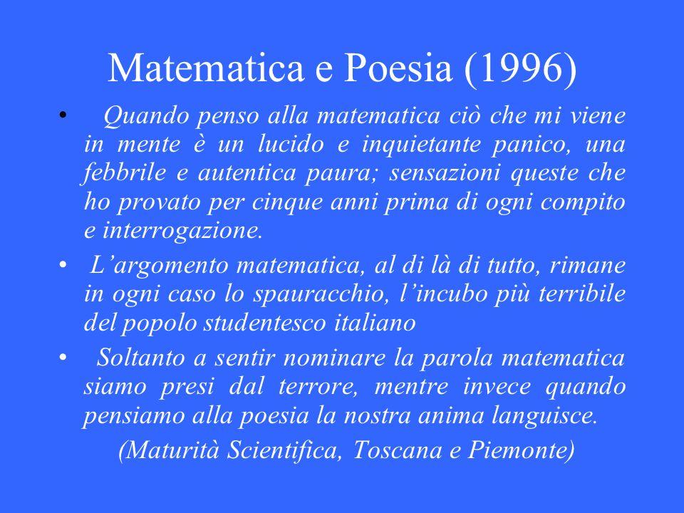 Matematica e Poesia (1996)