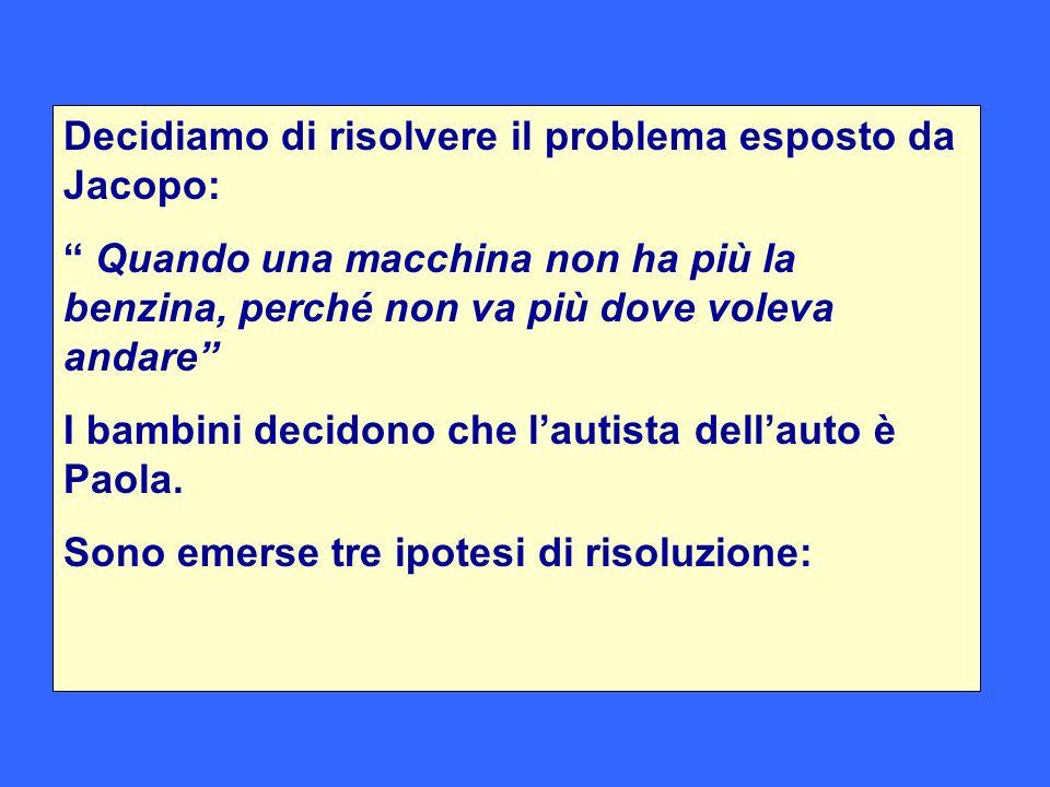 Decidiamo di risolvere il problema esposto da Jacopo: