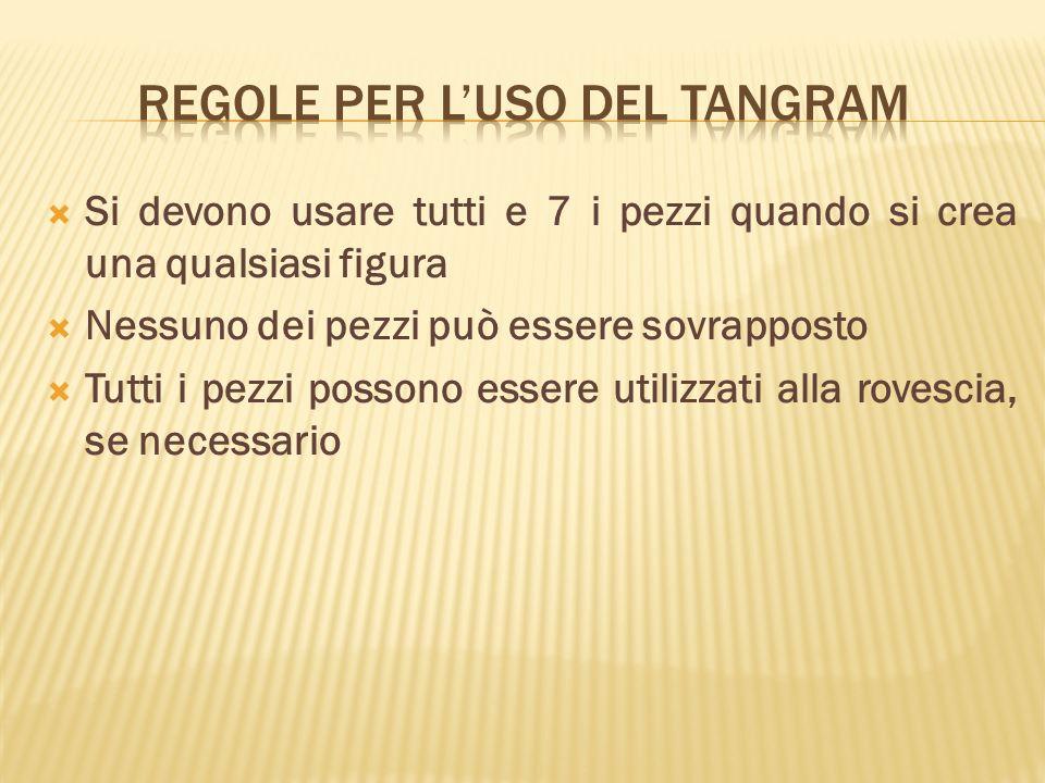 Regole per l'uso del tangram