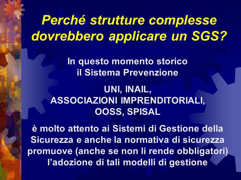 Perché strutture complesse dovrebbero applicare un SGS