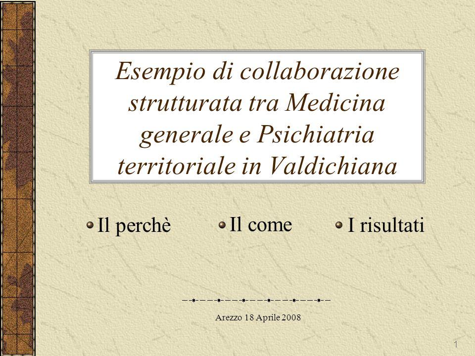 Esempio di collaborazione strutturata tra Medicina generale e Psichiatria territoriale in Valdichiana