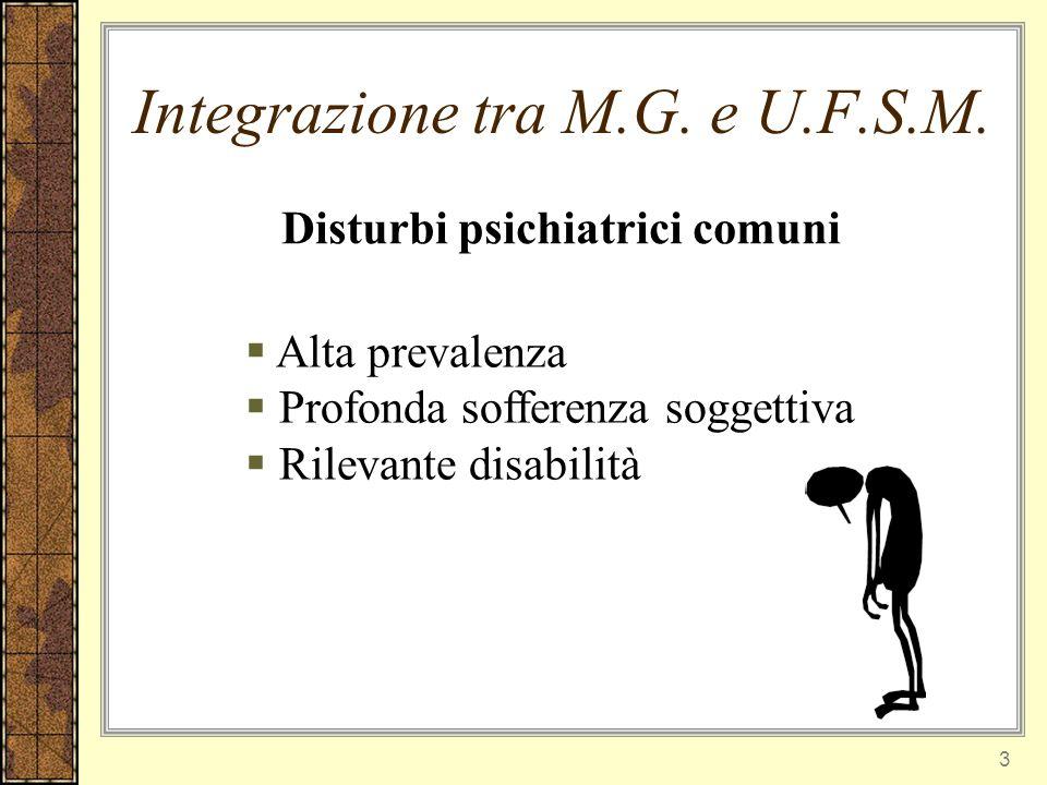 Integrazione tra M.G. e U.F.S.M.