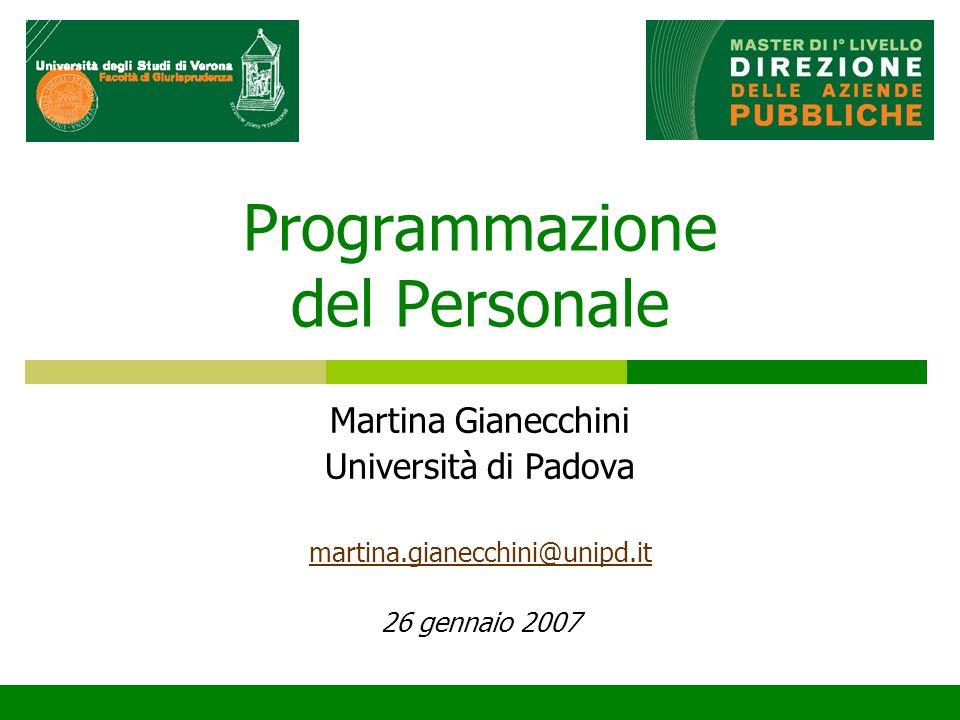Programmazione del Personale