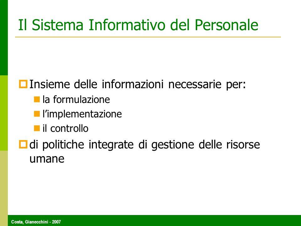 Il Sistema Informativo del Personale