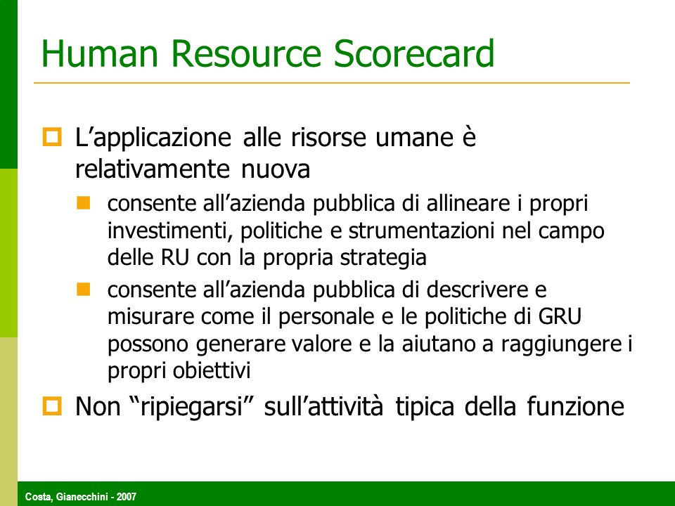 Human Resource Scorecard