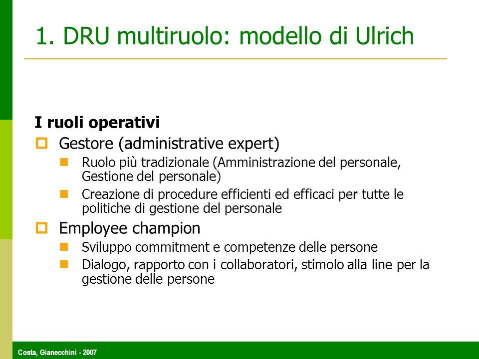 1. DRU multiruolo: modello di Ulrich