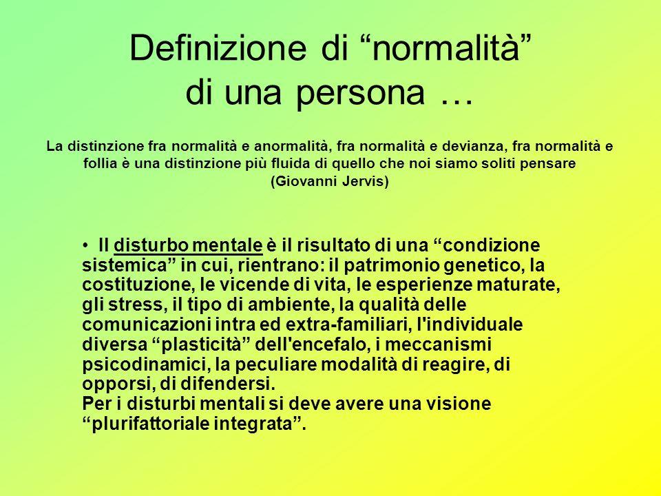 Definizione di normalità di una persona …