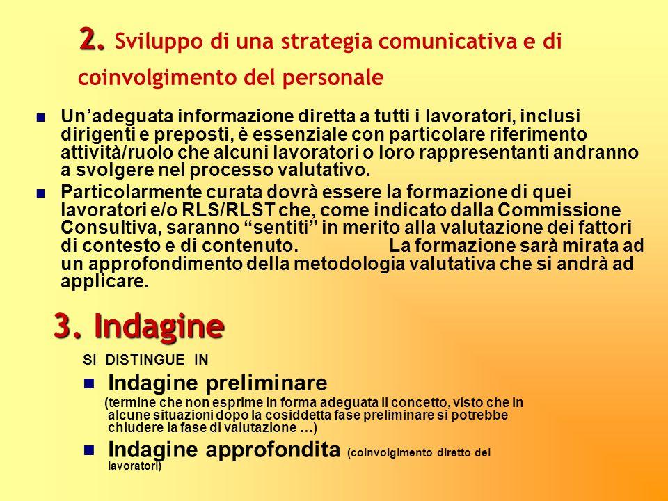2. Sviluppo di una strategia comunicativa e di coinvolgimento del personale