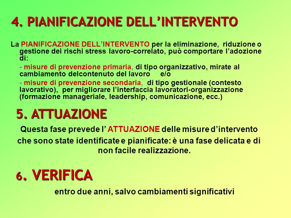 4. PIANIFICAZIONE DELL'INTERVENTO