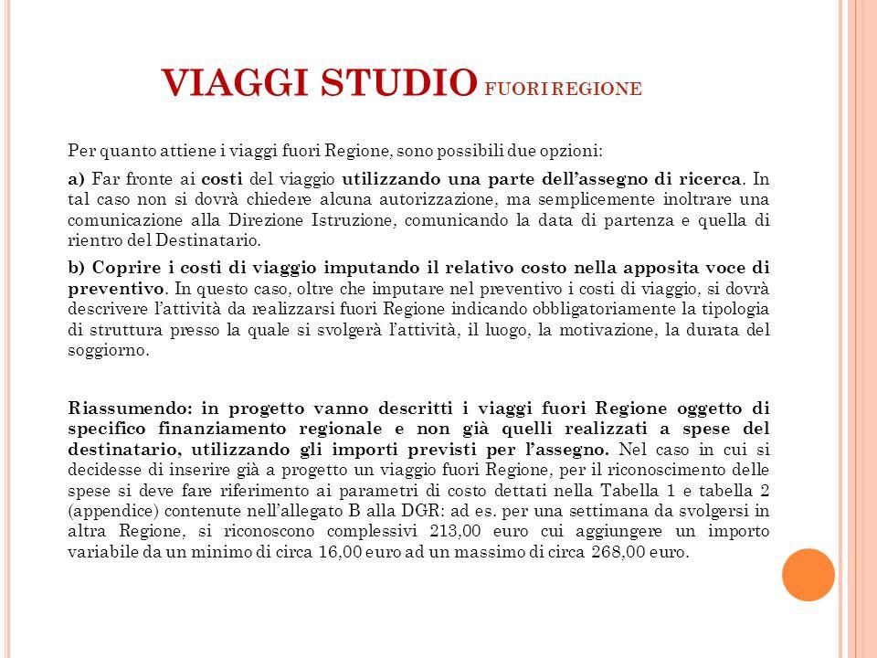 VIAGGI STUDIO FUORI REGIONE