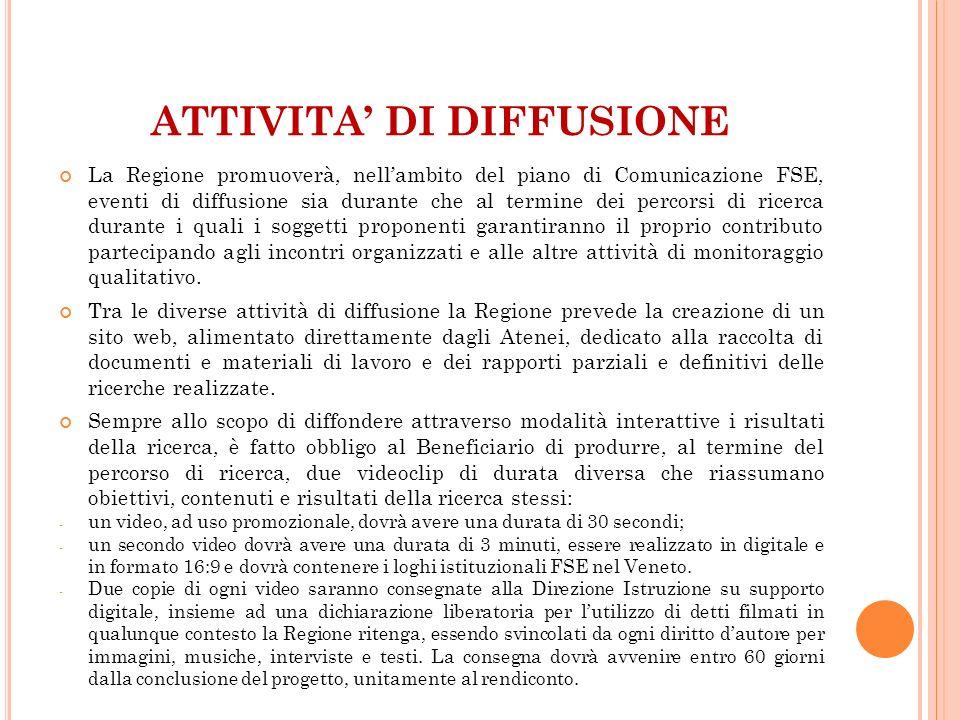 ATTIVITA' DI DIFFUSIONE