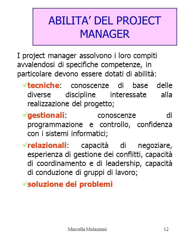ABILITA' DEL PROJECT MANAGER