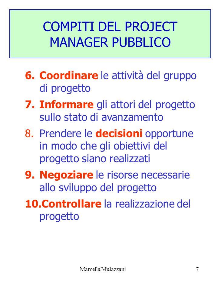 COMPITI DEL PROJECT MANAGER PUBBLICO