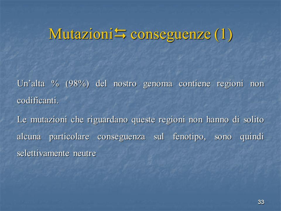 Mutazioni conseguenze (1)