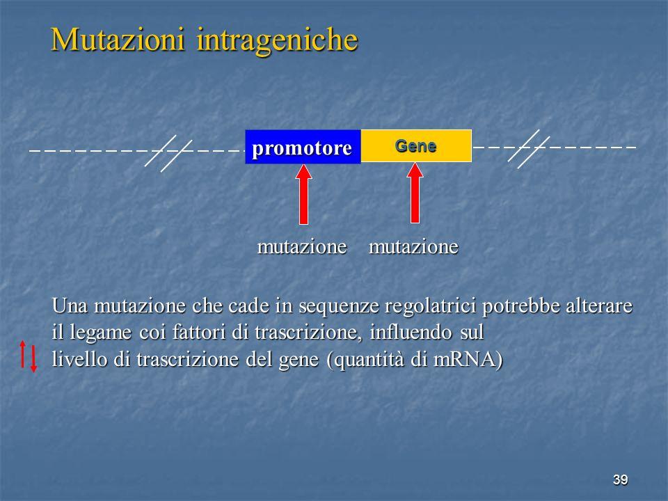 Mutazioni intrageniche