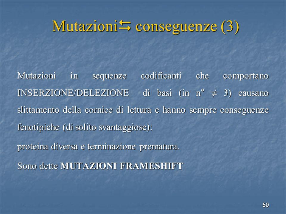 Mutazioni conseguenze (3)