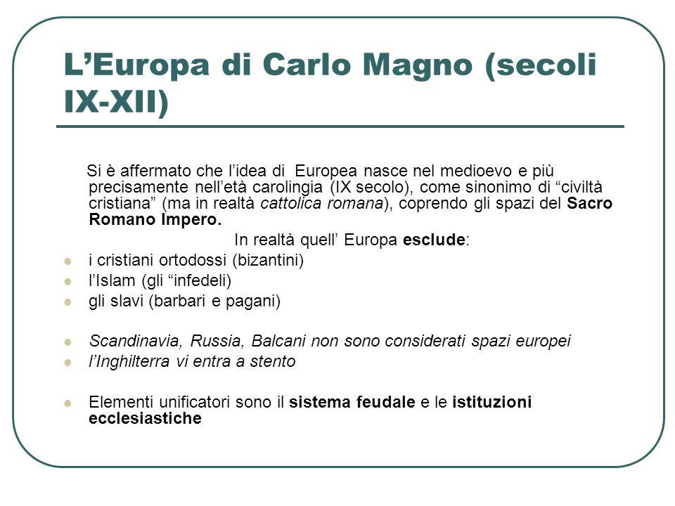 L'Europa di Carlo Magno (secoli IX-XII)
