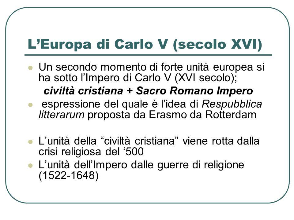 L'Europa di Carlo V (secolo XVI)
