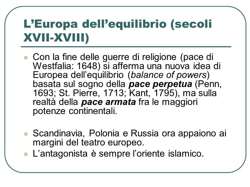 L'Europa dell'equilibrio (secoli XVII-XVIII)