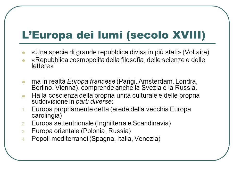 L'Europa dei lumi (secolo XVIII)