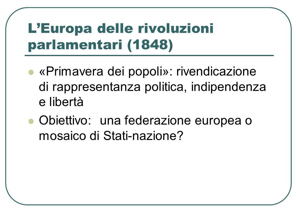 L'Europa delle rivoluzioni parlamentari (1848)