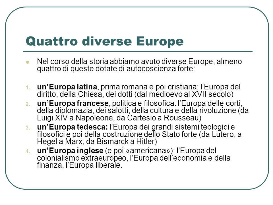 Quattro diverse Europe