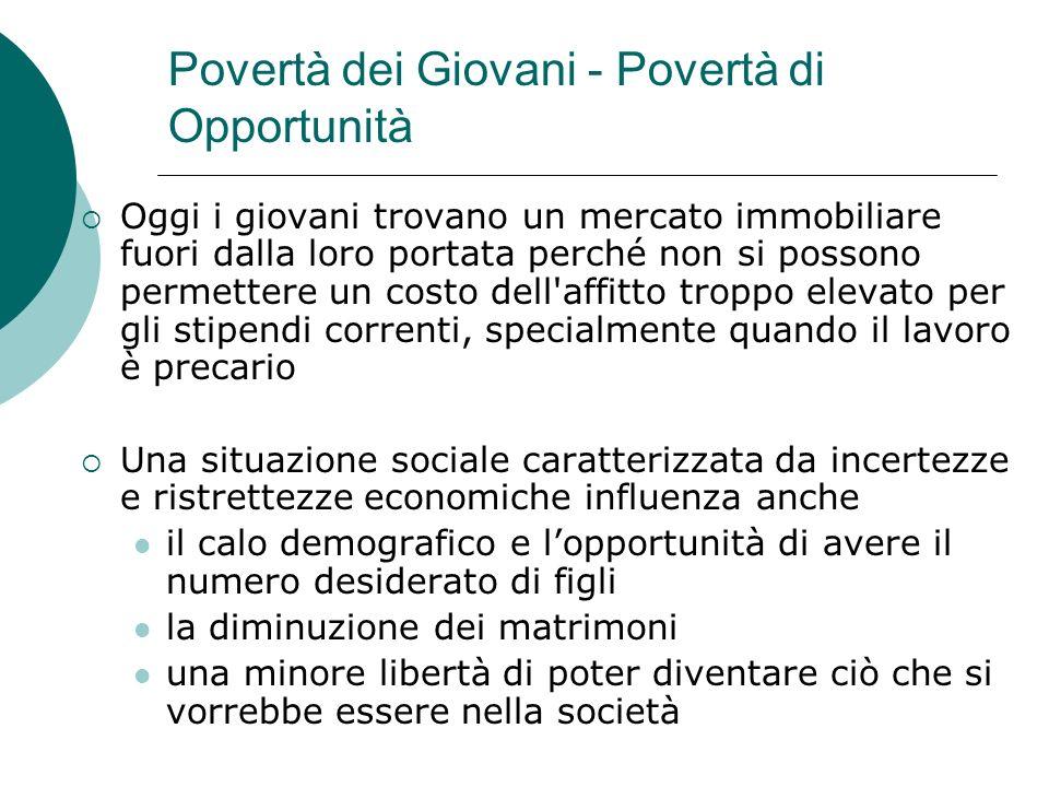 Povertà dei Giovani - Povertà di Opportunità