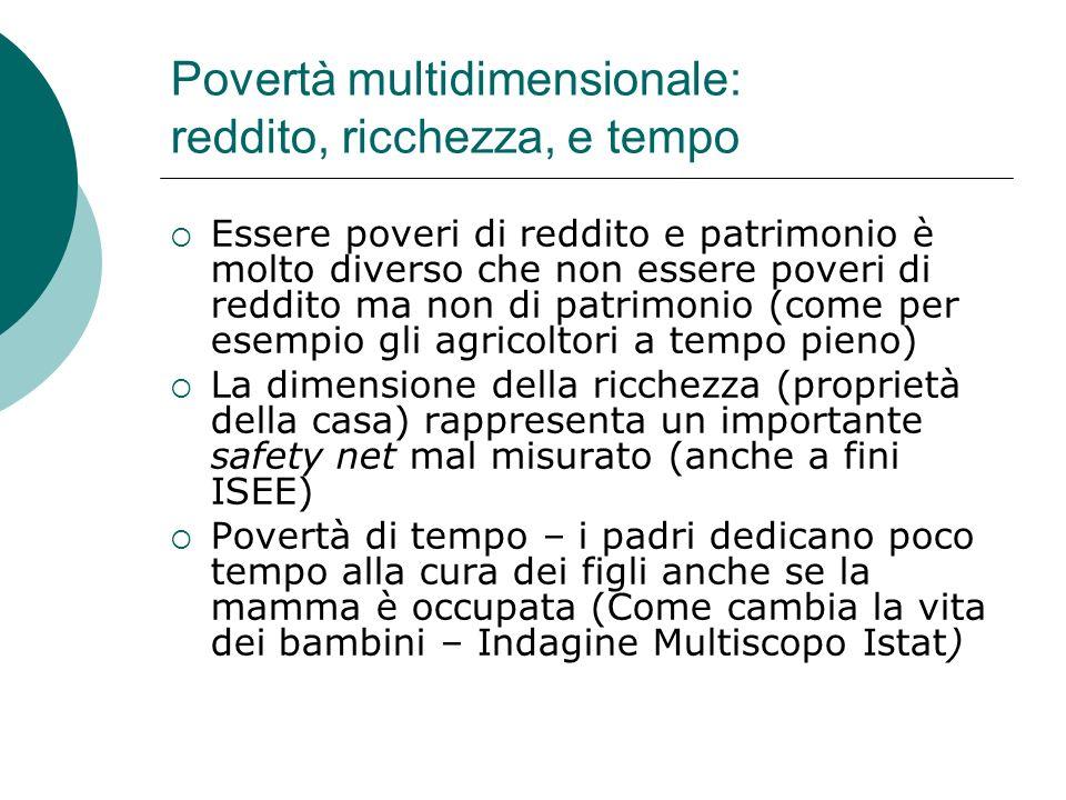 Povertà multidimensionale: reddito, ricchezza, e tempo