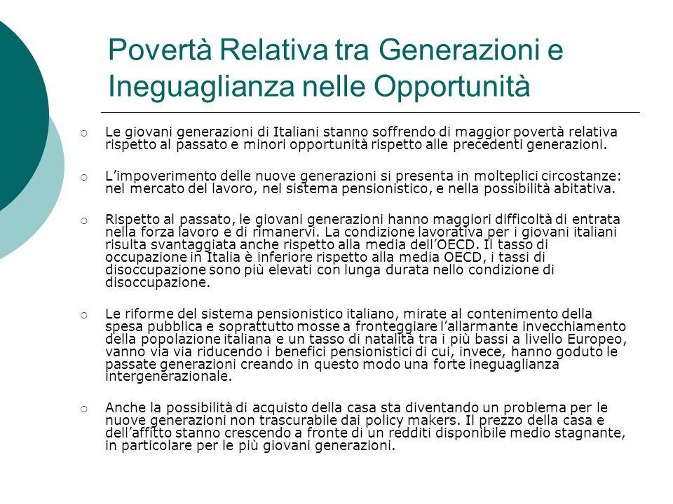 Povertà Relativa tra Generazioni e Ineguaglianza nelle Opportunità