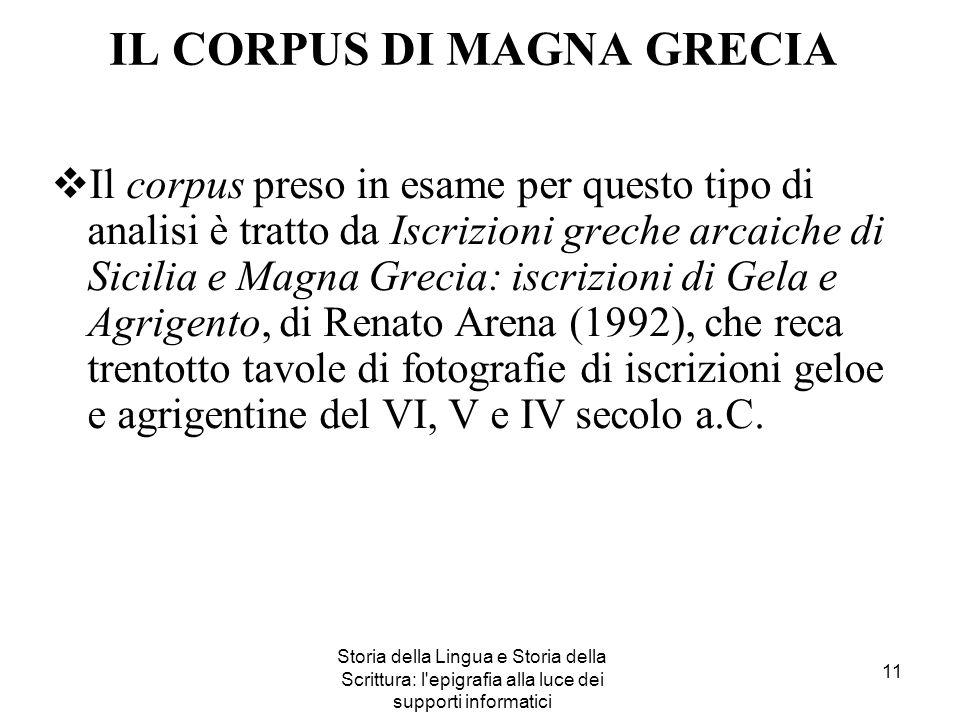 IL CORPUS DI MAGNA GRECIA