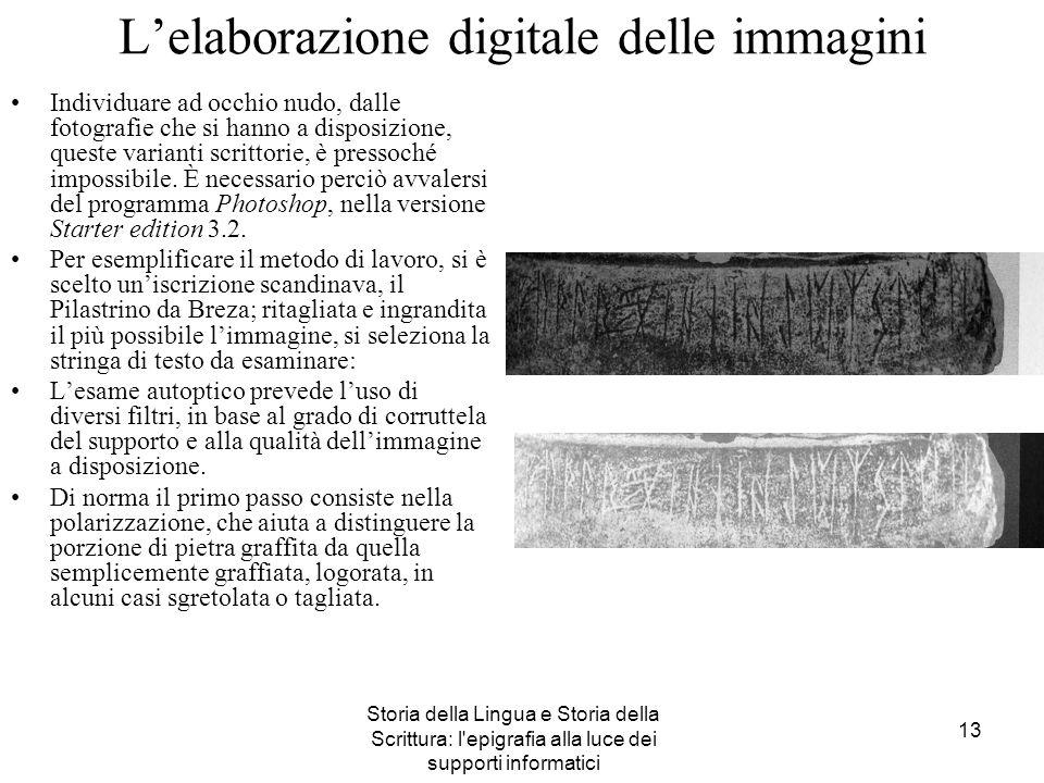 L'elaborazione digitale delle immagini
