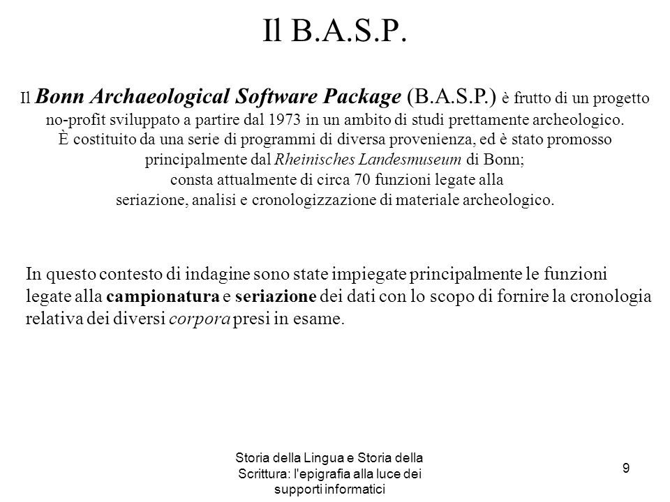Il B.A.S.P.
