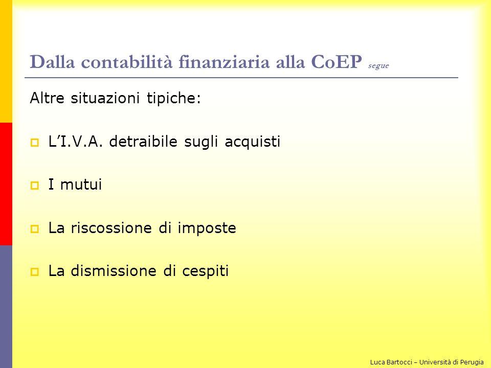 Dalla contabilità finanziaria alla CoEP segue
