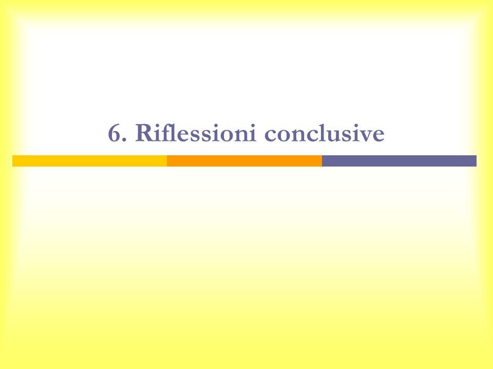 6. Riflessioni conclusive