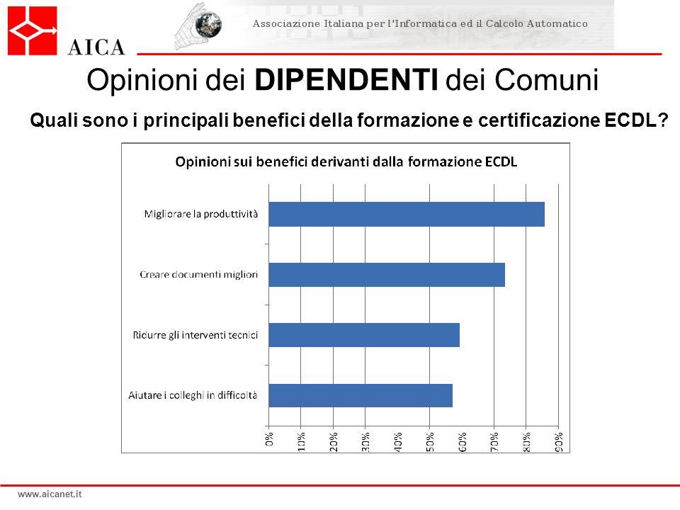 Opinioni dei DIPENDENTI dei Comuni