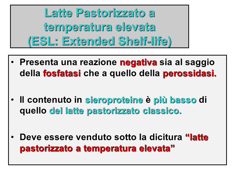 Latte Pastorizzato a temperatura elevata (ESL: Extended Shelf-life)