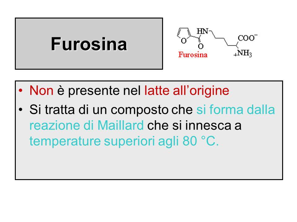 Furosina Non è presente nel latte all'origine